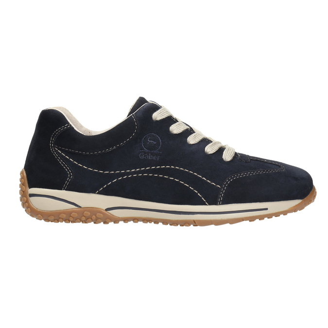 Ladies' leather sneakers gabor, blue , 626-9205 - 15