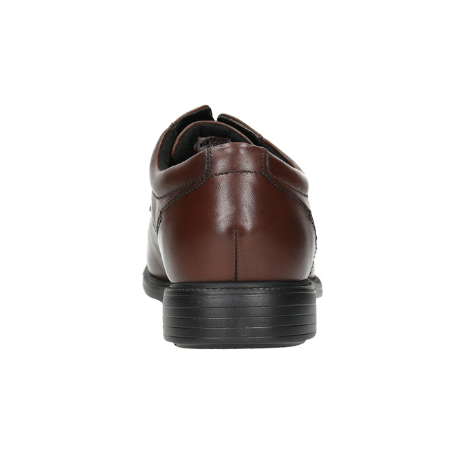 Brown leather Derby shoes rockport, brown , 824-4127 - 17