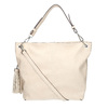 Handbag with tassels bata, beige , 961-8703 - 19