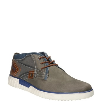 Leather ankle boots bugatti, gray , 846-2635 - 13