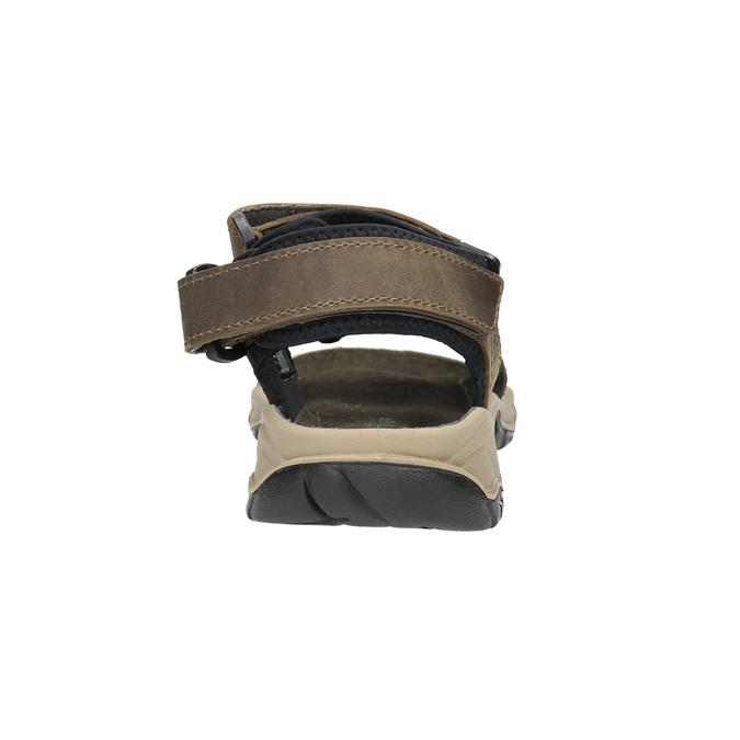 Men's leather sandals weinbrenner, brown , 866-3630 - 17