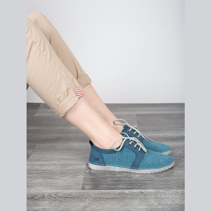 Casual leather shoes weinbrenner, blue , 523-9475 - 18