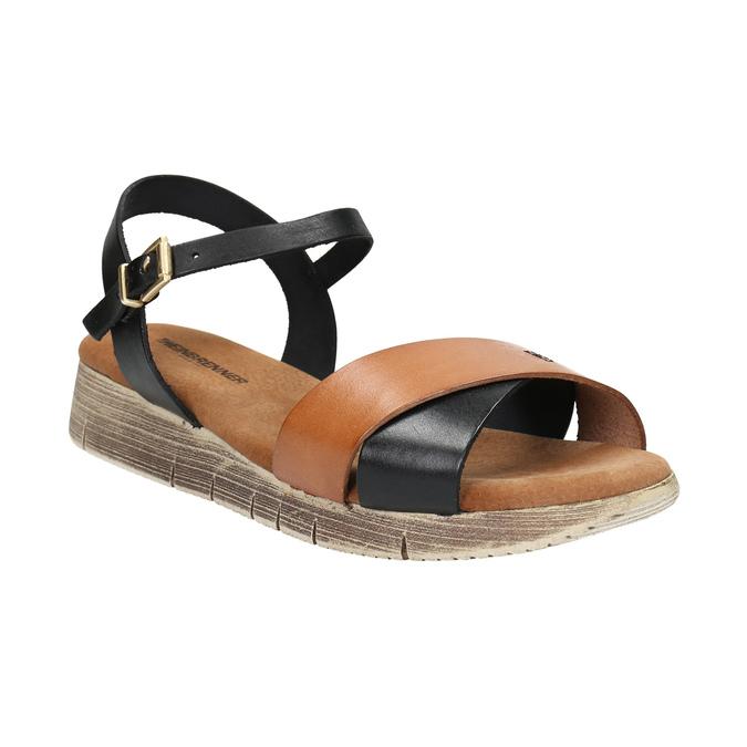 Ladies' sandals with distinctive sole weinbrenner, black , 566-6626 - 13