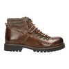 Leather Ankle Boots with Colorful Shoelaces, brown , 894-4180 - 15