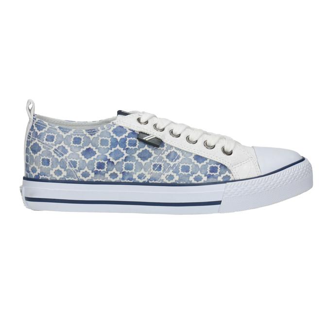 Ladies' patterned sneakers north-star, blue , 589-1441 - 15
