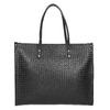 Handbag with a knit pattern marie-claire, black , 961-6540 - 17