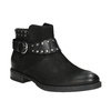 Ladies' studded high ankle boots bata, black , 596-6658 - 13