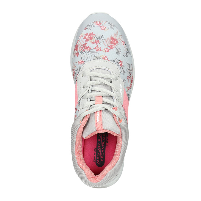 Sneakers with a floral pattern power, gray , 509-2203 - 15