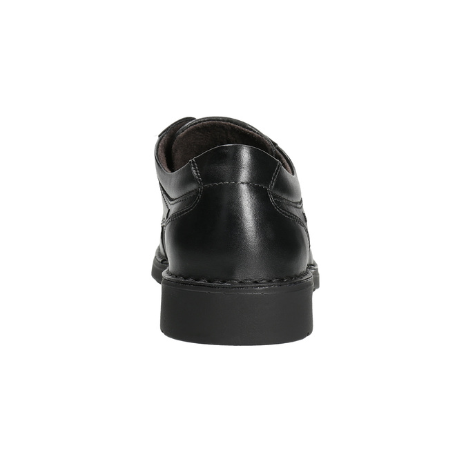 Casual leather shoes with stitching comfit, black , 824-6987 - 17