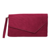 Ladies' burgundy clutch bata, red , 969-5665 - 19