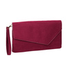 Ladies' burgundy clutch bata, red , 969-5665 - 13