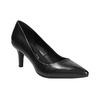 Ladies' leather pumps pillow-padding, black , 624-6642 - 13