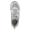 Girl's silver sneakers with small rhinestones mini-b, gray , 329-2295 - 26