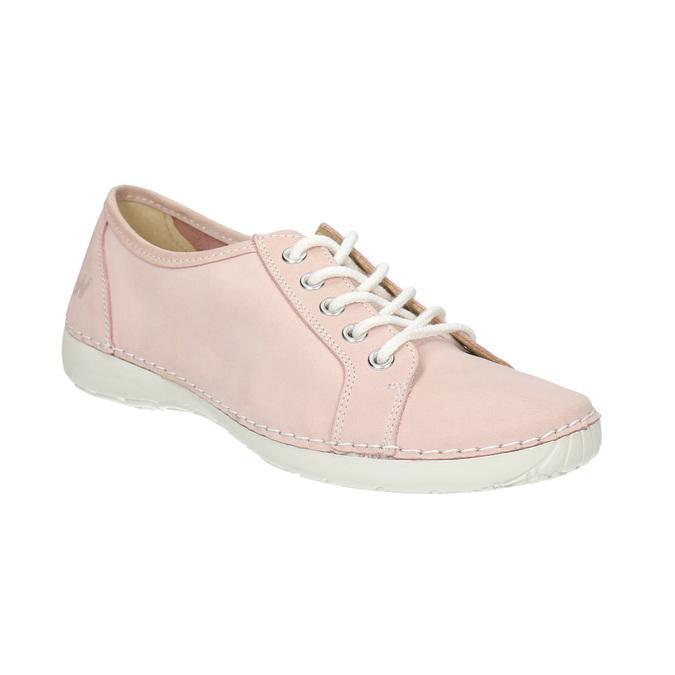 Ladies' leather sneakers weinbrenner, pink , 526-5644 - 13