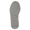 Girl's silver sneakers with small rhinestones mini-b, gray , 329-2295 - 19