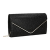 Ladies' black clutch bata, black , 969-6661 - 13