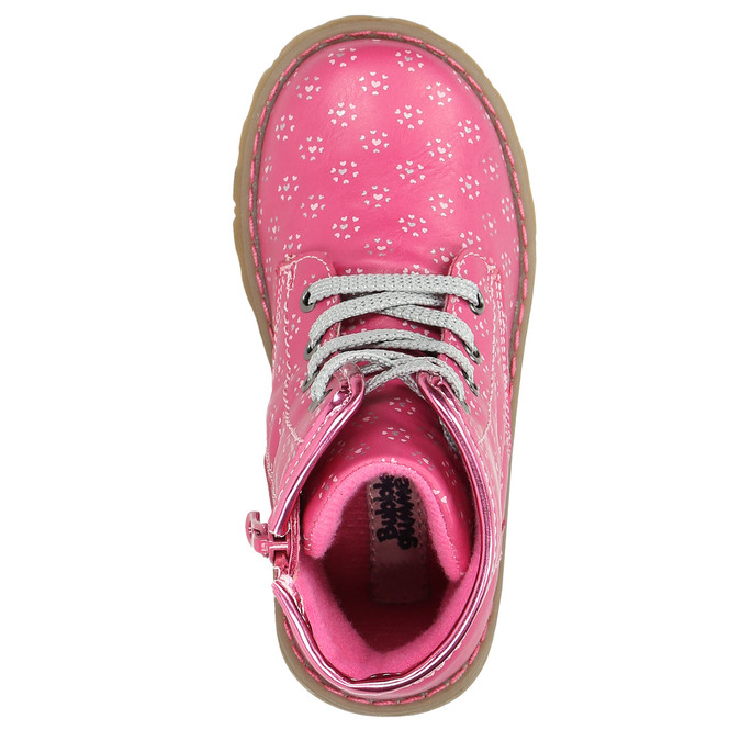 Pink ankle shoes bubblegummer, pink , 221-5606 - 26