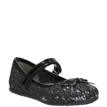Girls' Ballet Pumps with Lace mini-b, black , 229-6198 - 13