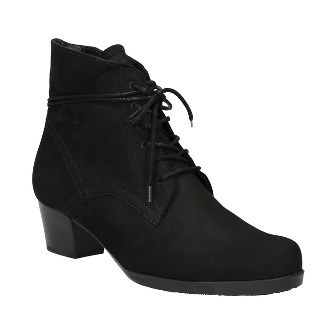 Ladies' High Boots with Sturdy Heel gabor, black , 626-6009 - 13
