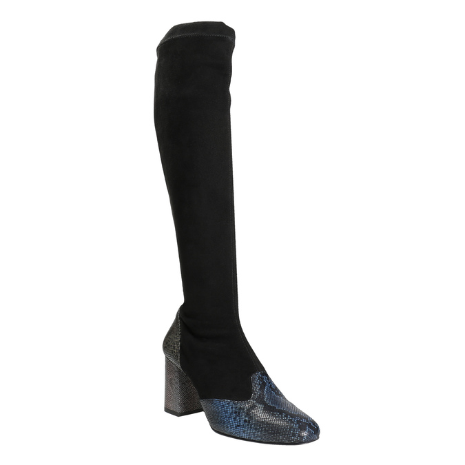 Ladies' High Boots with Sturdy Heel, black , 796-6010 - 13