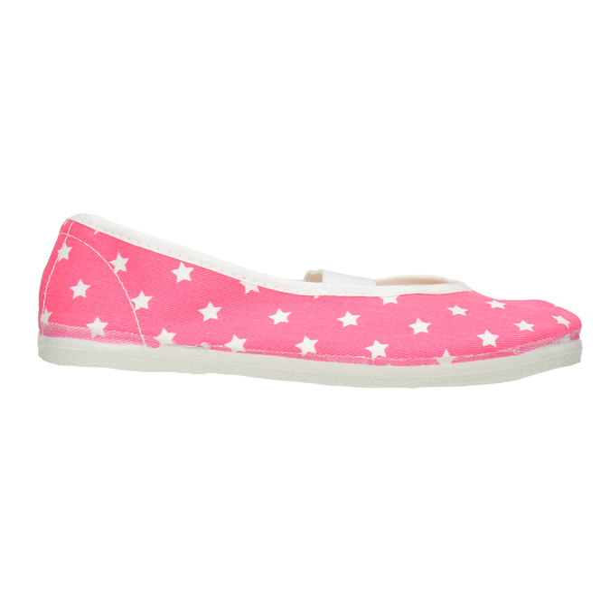 Children's Gym Shoes with Stars bata, pink , 379-5217 - 26