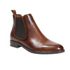 Ladies' leather Chelsea boots bata, brown , 594-4635 - 13