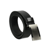 Men's leather belt with metal buckle bata, black , 954-6194 - 13