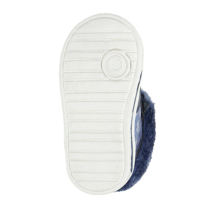 Girls' shoes with fur bubblegummer, blue , 121-9621 - 26