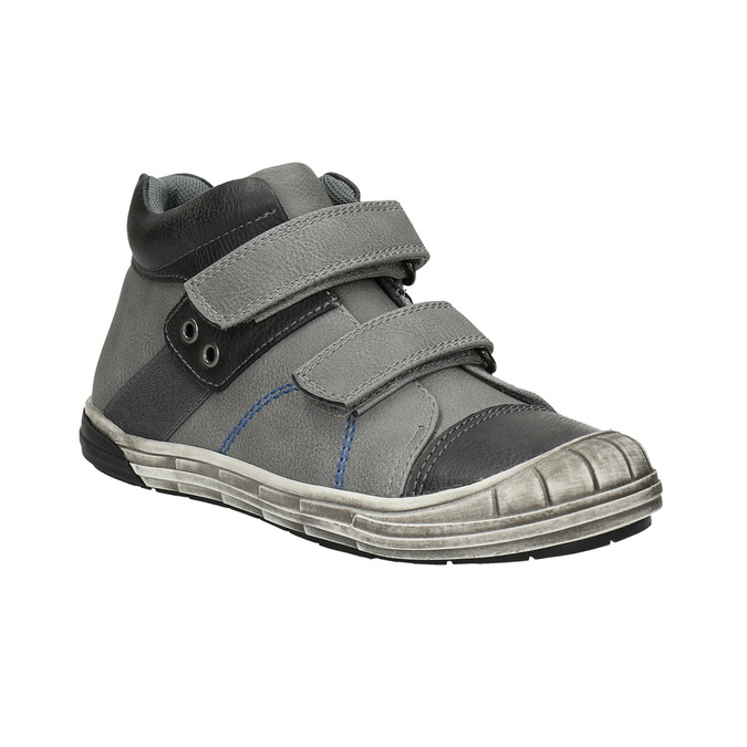 Children's ankle boots with Velcro fasteners mini-b, gray , 211-2624 - 13