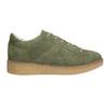 Ladies' leather khaki sneakers bata, green, 523-7604 - 15