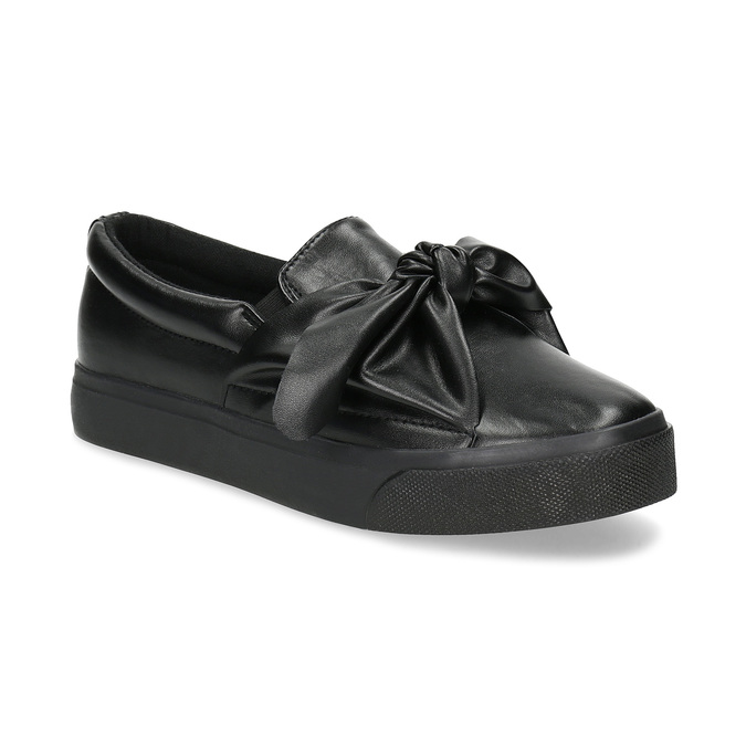 Slip-Ons with Bow north-star, black , 511-6606 - 13