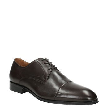 Brown leather Derby shoes bata, brown , 824-4406 - 13