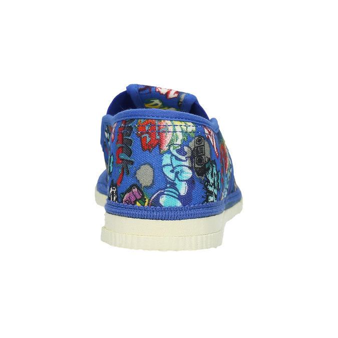 Children's blue slip-ons bata, blue , 379-9124 - 16
