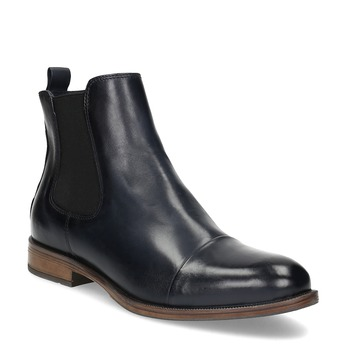Ladies' leather Chelsea boots bata, blue , 594-9636 - 13