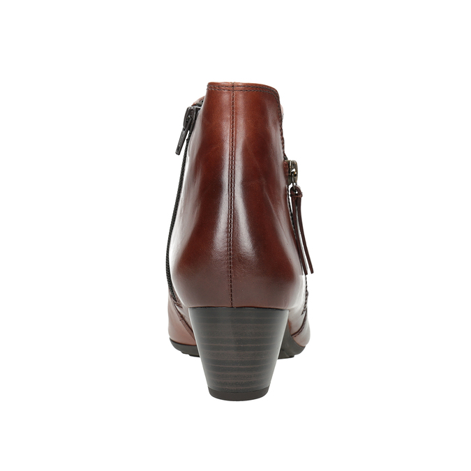 Leather Low-Heeled Ankle Boots gabor, brown , 616-3112 - 16