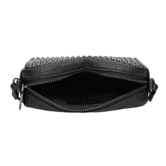 Ladies' studded crossbody handbag bata, black , 961-6790 - 15