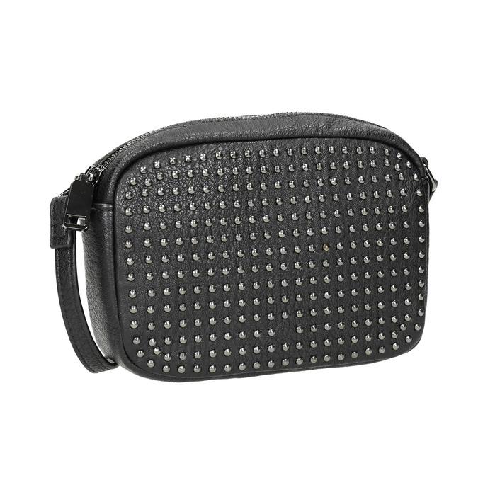 Ladies' studded crossbody handbag bata, black , 961-6790 - 13
