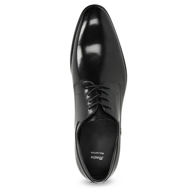 Men's leather Derby shoes bata, black , 824-6233 - 17