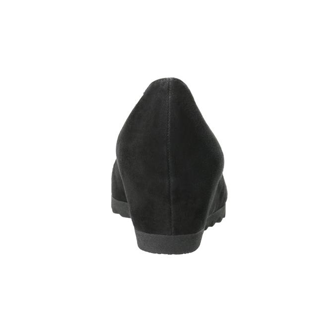 Ladies' Ballet Wedge Pumps gabor, black , 623-6027 - 16