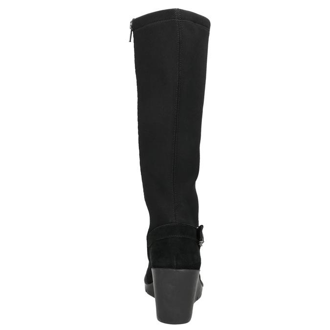 Ladies' High Wedge Boots bata, black , 796-6645 - 17