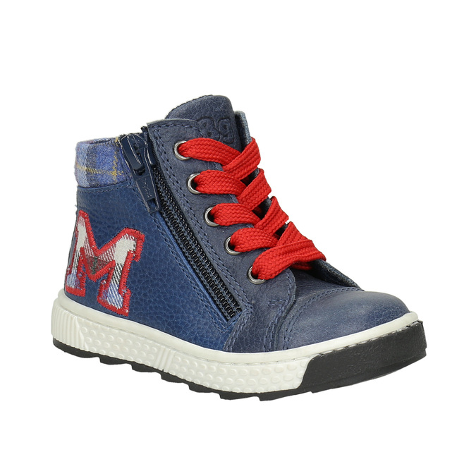 Kids' leather ankle boots bubblegummer, blue , 114-9603 - 13