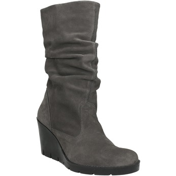 Ladies' High Boots with Wrinkling bata, gray , 796-2646 - 13