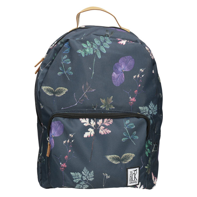 Blue Backpack with Print, blue , 969-9085 - 26