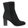 Ankle boots with heels bata, black , 699-6636 - 15