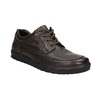 Casual leather shoes bata, brown , 824-4925 - 13