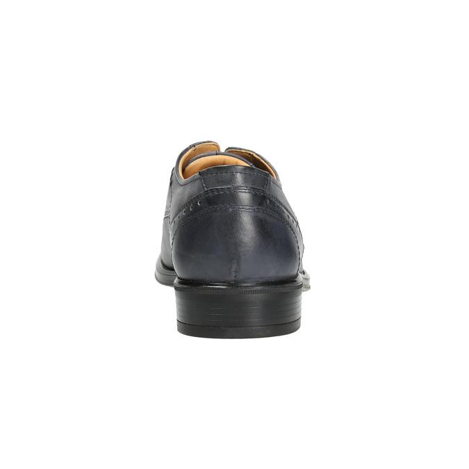 Men's blue leather shoes bata, blue , 826-9913 - 17