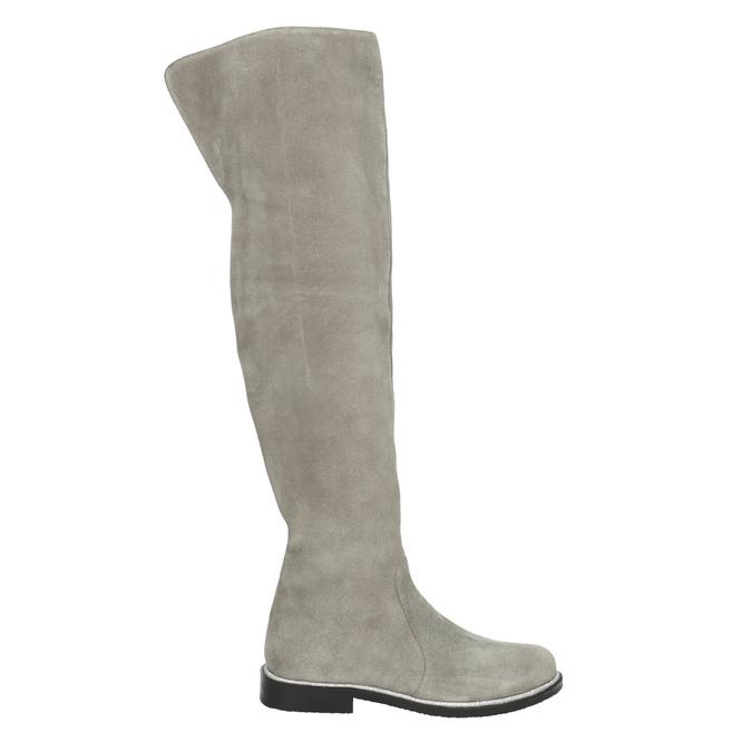 Grey over-knee high boots bata, gray , 593-2605 - 15