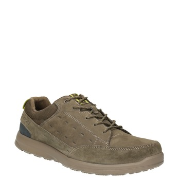 Casual Brushed Leather Sneakers rockport, brown , 826-3021 - 13