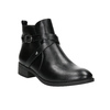 Ladies' ankle high boots with buckles bata, black , 591-6620 - 13