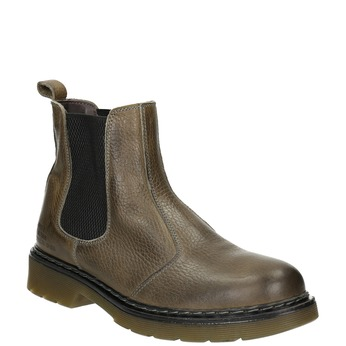 Ladies' leather Chelsea boots bata, brown , 596-7680 - 13